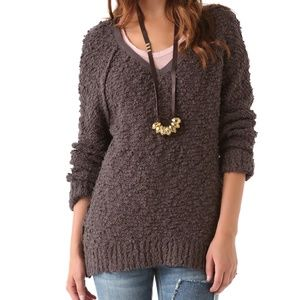 Free People   Brown Song Bird Knit Sweater  S